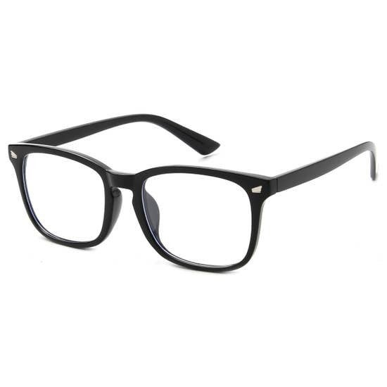 Black Horn-Rimmed Frame Blue Light Blocker Glasses