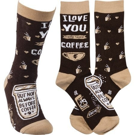 I Love you Coffee Socks