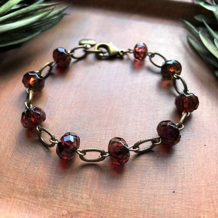 Czech Glass Wine Bracelet