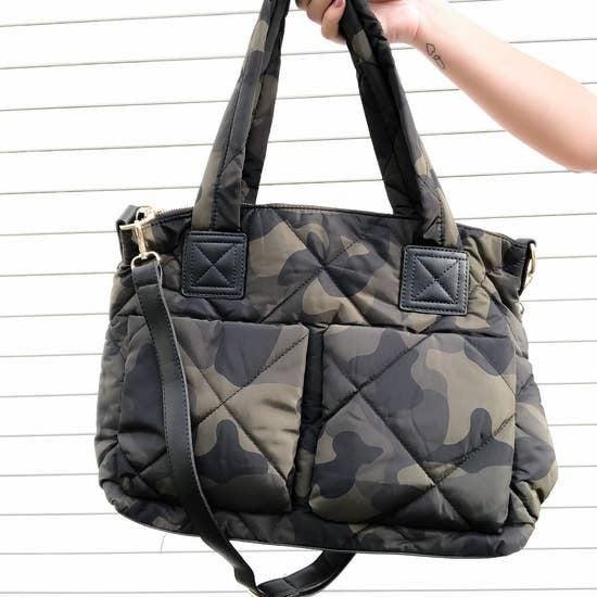 Puffer Camo Messenger Bag