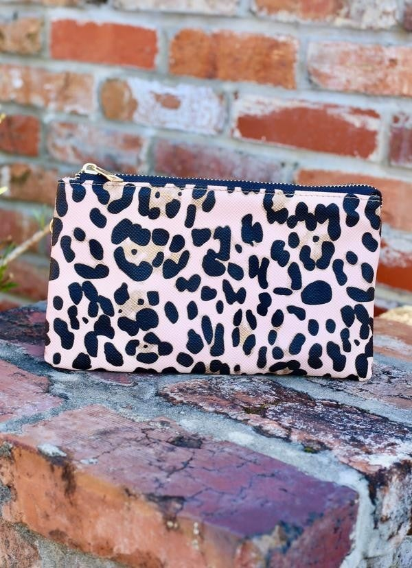 Crossbody blush leopard