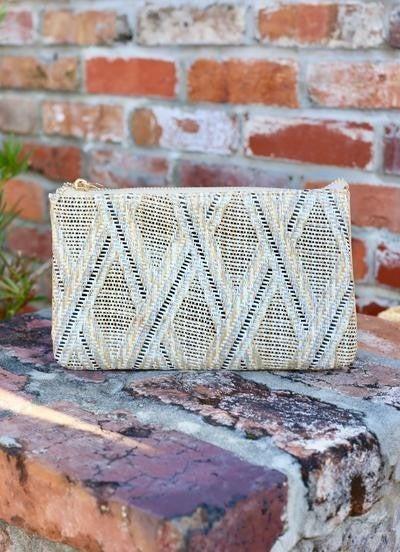 Crossbody straw rust lattice
