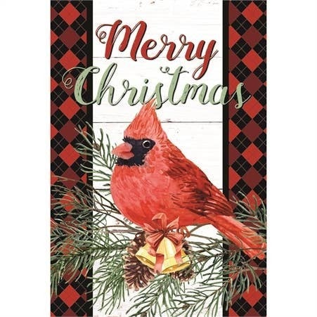 Garden Merry Christmas Cardinal Flag
