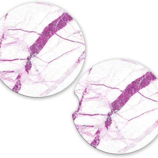 Purple Marble Car Coaster