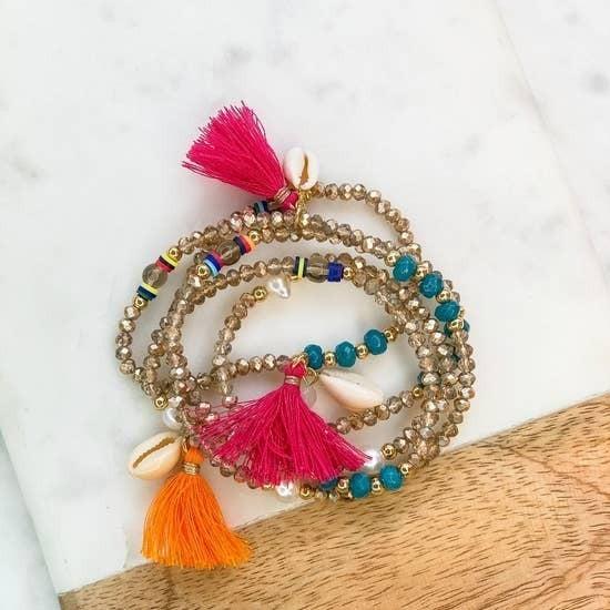 Shell & Tassel Bracelet/Necklace