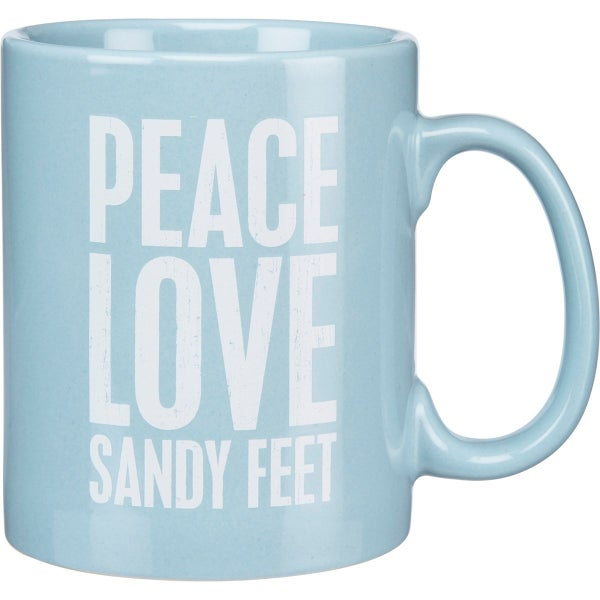 Mug Peace Love Sandy Feet