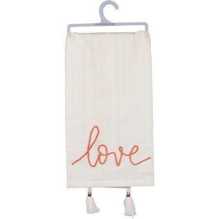 Love Towel Embroidered w Tassels