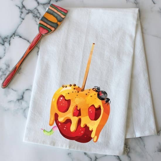 Scary Candy Apple - Kitchen Towel
