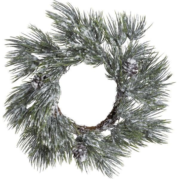 Flocked Spruce Wreath