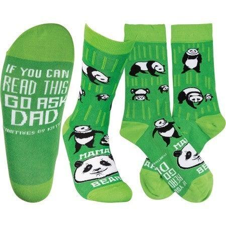 Panda Mama Bear Socks
