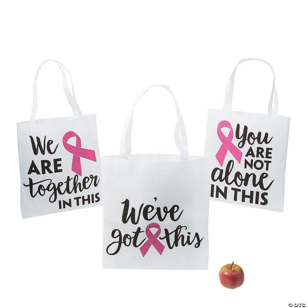 Breast Cancer Shopping Bag - Not Alone