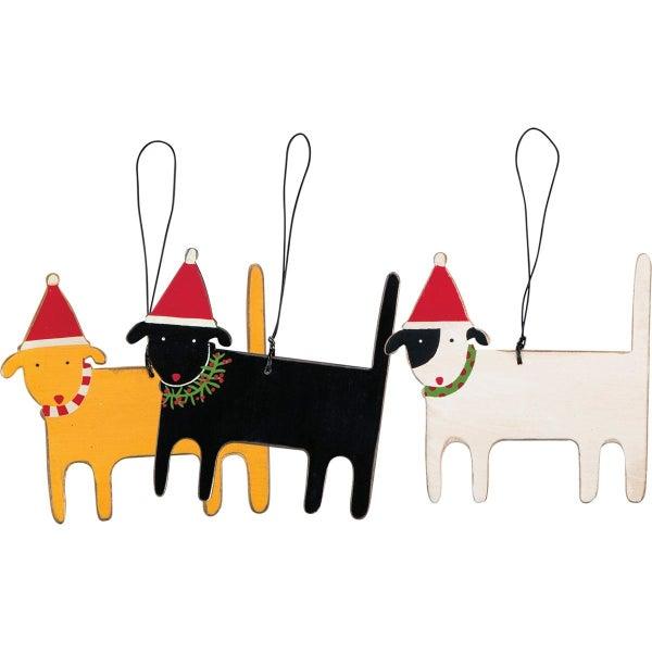 3 Dog Ornaments