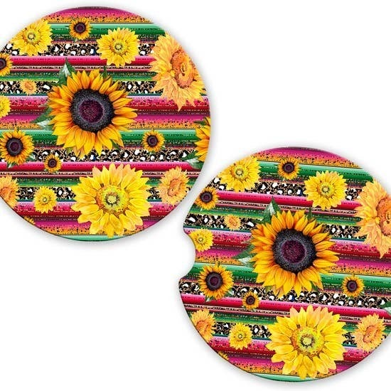 Sunflower Car Coaster