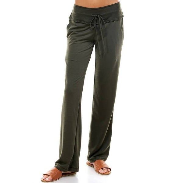 Olive French Terry Solid Pants