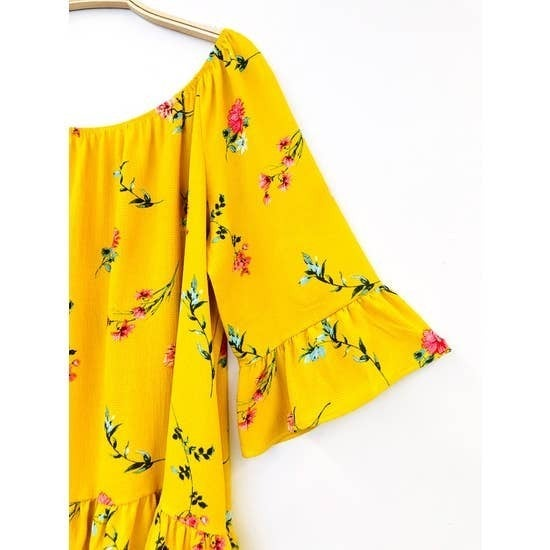 Print Off the Shoulder Woven Top