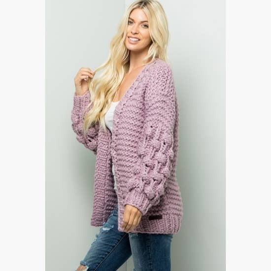 HAND MADE CHUNKY KNIT BODY CARDIGAN