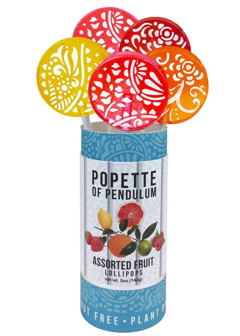 Assorted Fruity Lollipop Canister