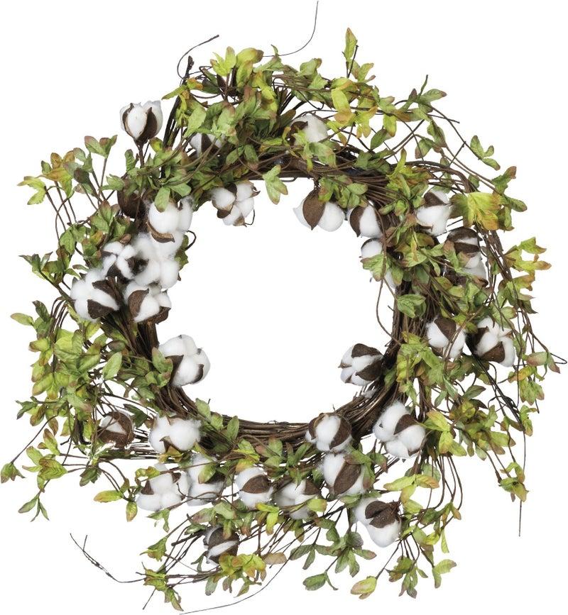 Wreath - Greens & Cotton