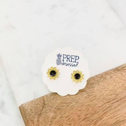 Sunflower Signature Enamel Stud Earrings