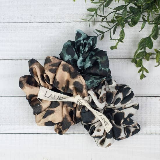 Hair Scrunchie Set in Luxe Leopard
