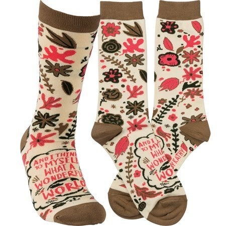 Wonderful World Socks