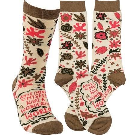 Wonderful World Socks