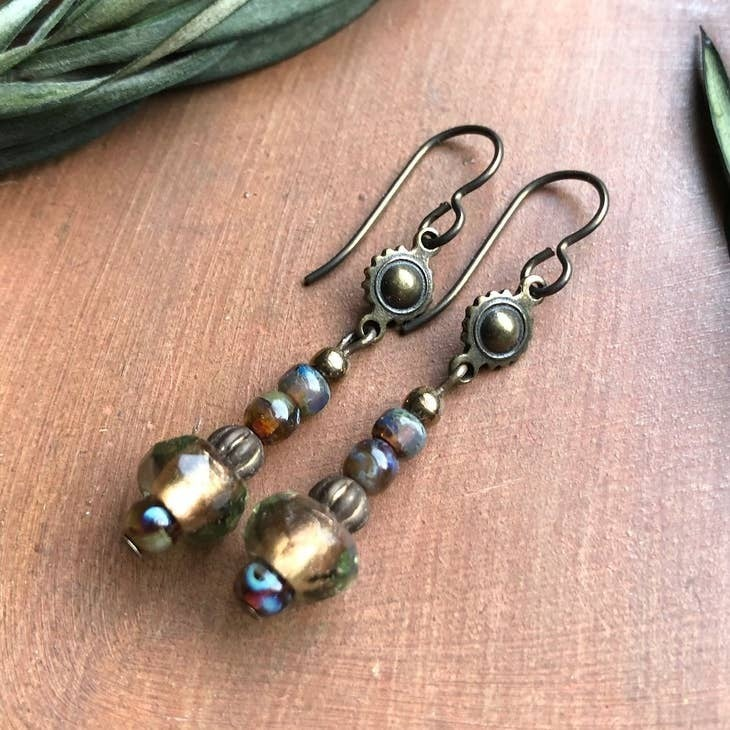 Bohemian Topaz Earrings