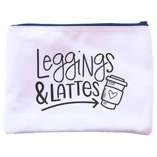 Leggings & Lattes Pouch