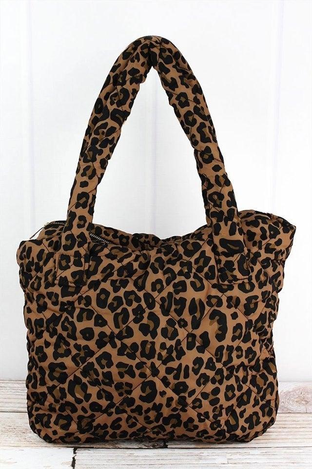 Leopard Puffer Tote