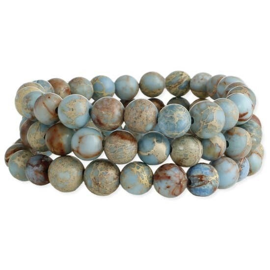 Blue Jasper Stone Bracelet Set