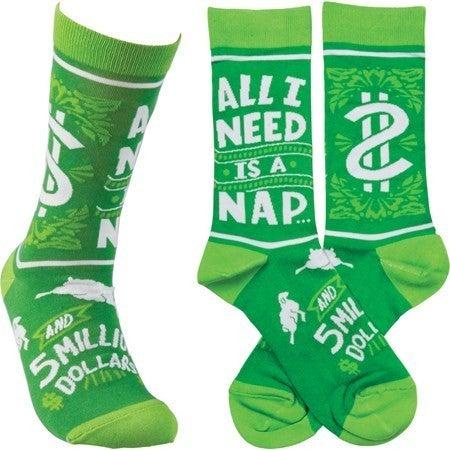 All I Need is a Nap Socks