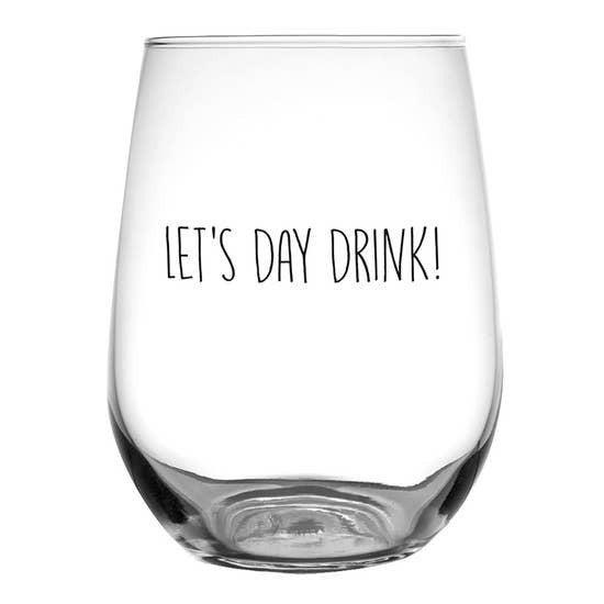 Day Drink - Stemless Glass