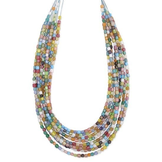 8 Line Glass Necklace