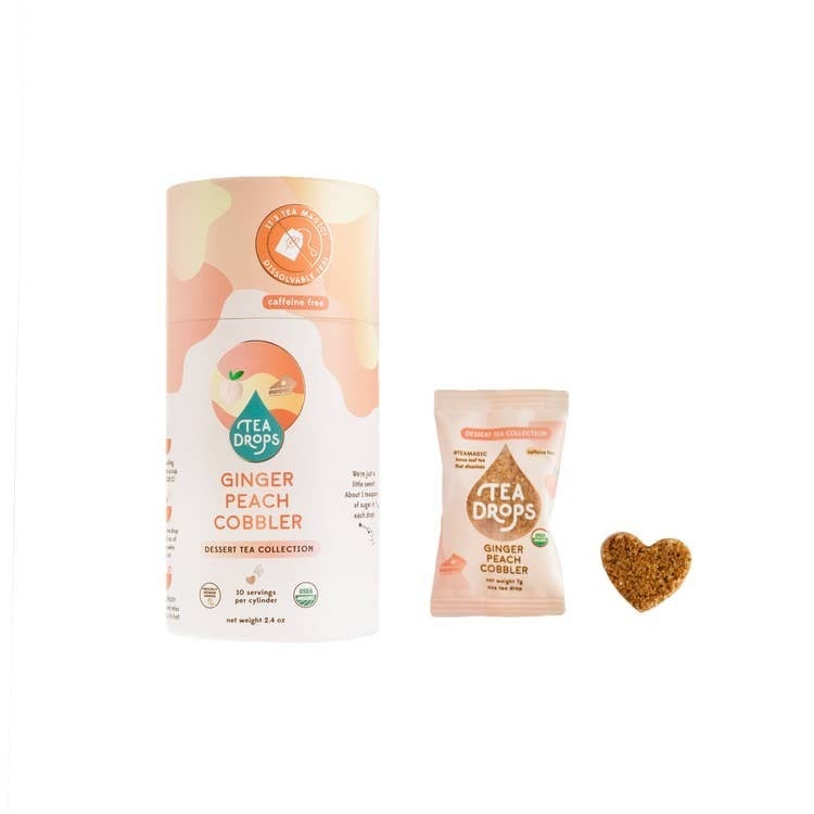 Ginger Peach Cobbler Tea Drops
