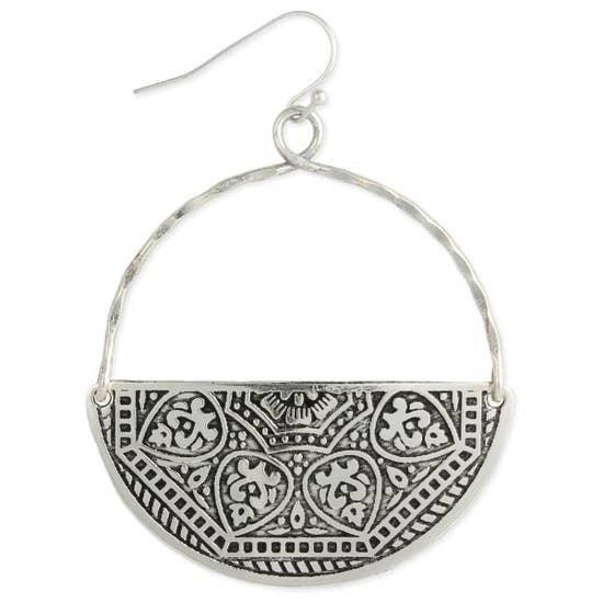 Silver Half Circle Earrings