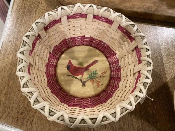 Handwoven Cardinal Basket