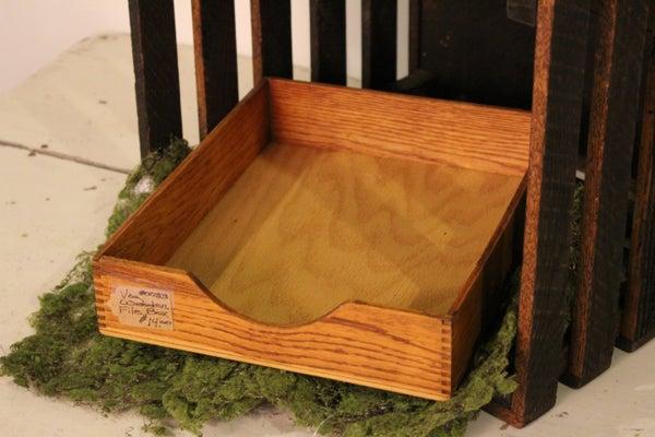 Vintage Wooden File Box