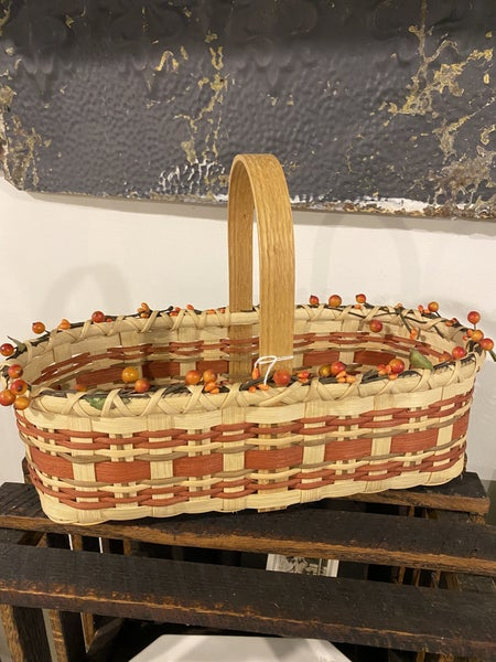 Fall inspired handmade basket with bittersweet