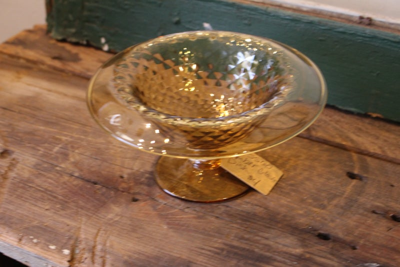 Amber Colored Glass Dish