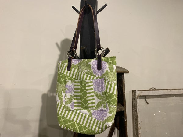 Quilted Bag with American Leather Handles