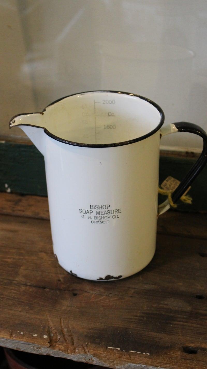 Bishop Soap Advertising Measure Pitcher