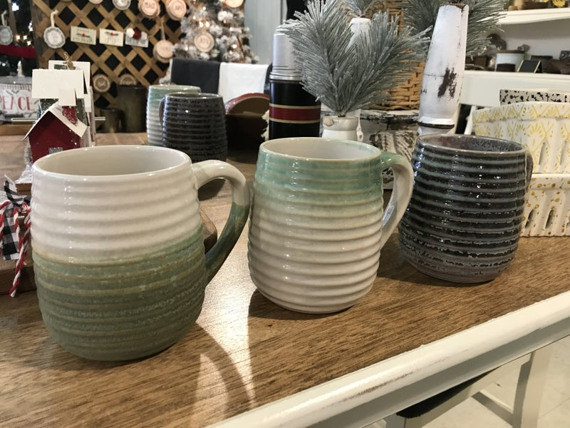 Glazed coffee mugs