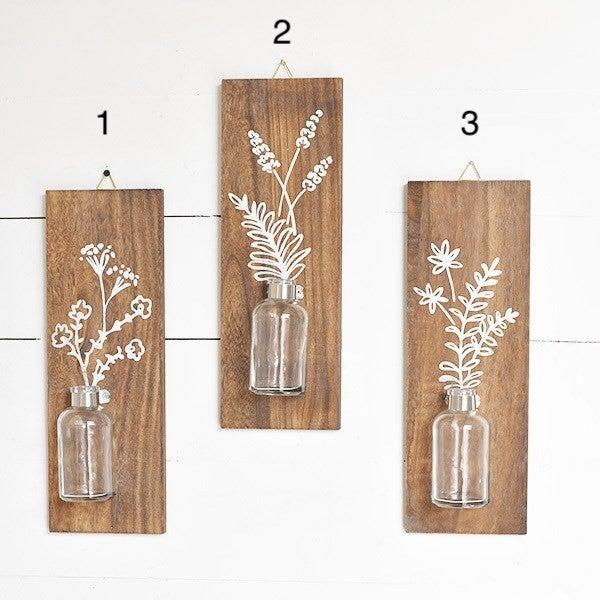 Wall Bottle Vase Decor- 3 variety