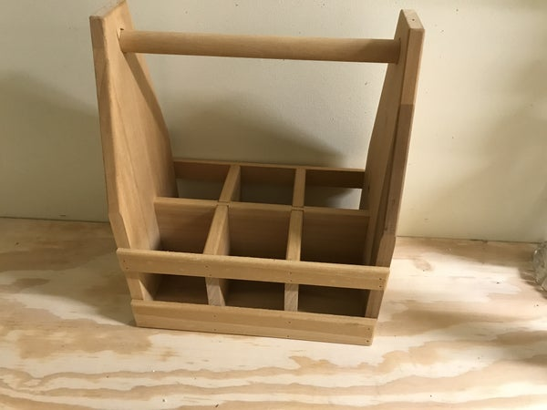Wood soda bottle crate