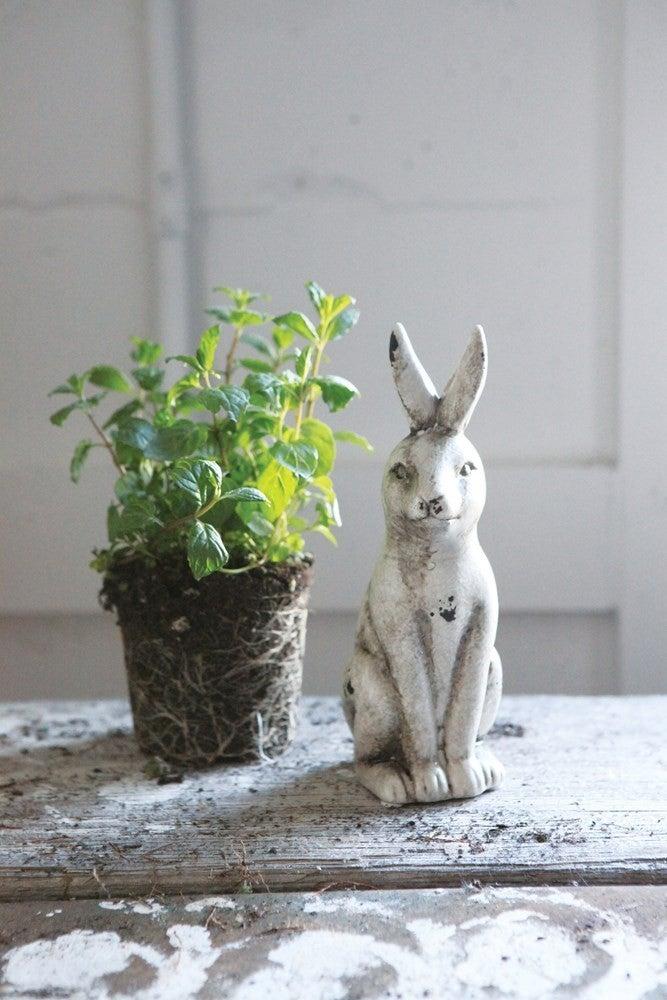 Distressed Ceramic Rabbit