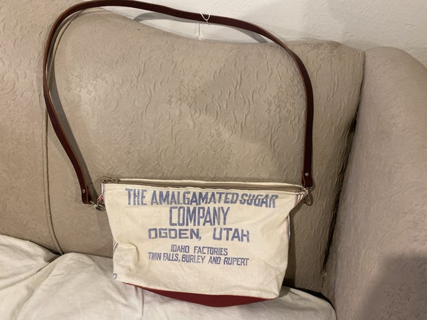 Sugar Sack Cross Body with American Leather strap and base