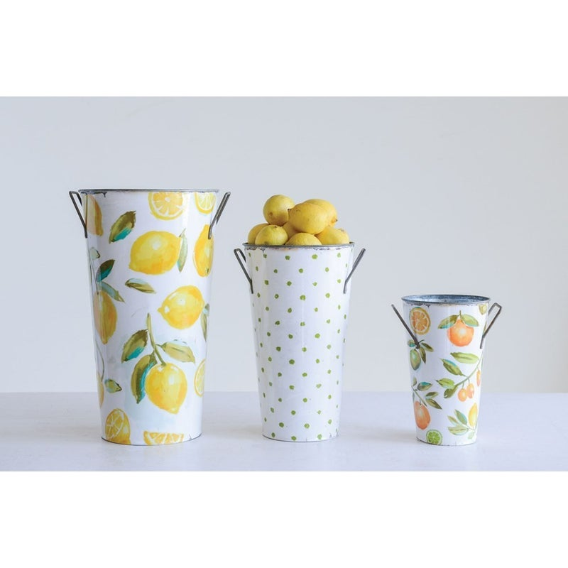 Small Oranges Print Bucket