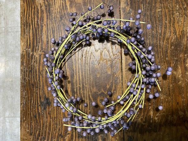 Purple berry wreath/garland