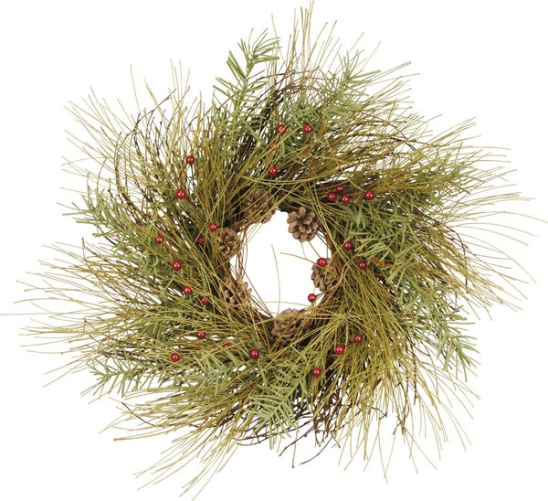 Pine w/ Cones & Berries Wreath
