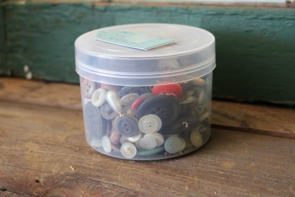 Container of Buttons